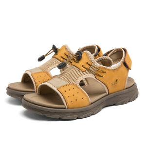 38-46 Men's Beach Sandals Open Toe Slingbacks Casual Adjustable Summer Shoes D