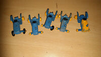 Vintage Lesney Matchbox Series No 39 Blue Yellow Ford Tractor Farm Toy x 5