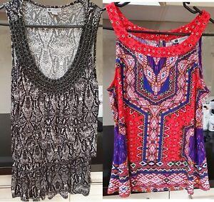 Rockmans Dressy Summer Tops x 2 Size S