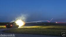 British Army Challenger Tank Castlemartin Range At Night 12x7 Inch Reprint Photo