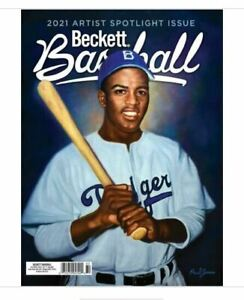 Used July 2021 Beckett Baseball Card Price Guide Magazine With Jackie Robinson