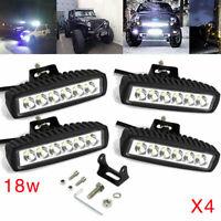 4X 18W Projecteur De Travail LED Flood Lampe Tracteur SUV 4WD Phare 12V 24V