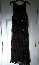 Lane Bryant Women's Sleeveless Lined Evening Dress Black/Purple Floral Size 26