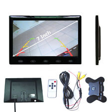 "HD 7"" Inch TFT LCD Dashboard Monitor Speaker for Car Audio Video Rear Camera Kit"