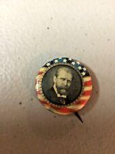 """Antique 1916 CHARLES E. HUGHES Political Pinback Button, 7/8"""" Bastian Bros. NICE"""