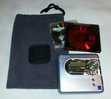 SONY MZ-NH600D HI-MD Minidisc Recorder Music Player, w/SONY Pouch, 2 Mini Discs