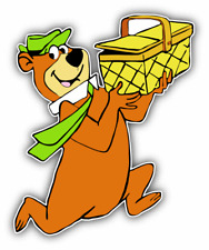 Yogi Bear Basket Cartoon Car Bumper Sticker Decal 4'' x 5''