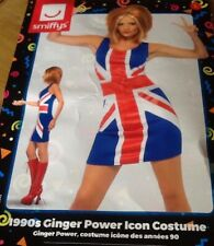 LADIES GINGER SPICE GIRL COSTUME FANCY DRESS M 10-12 BNWT