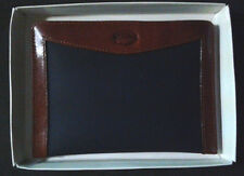 NWT in box Lacoste open wallet/small clutch/card holder in navy and brown