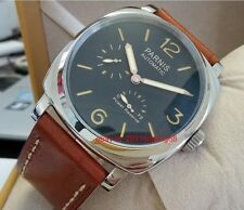 Parnis 47mm Power Reserve Indicator sandwich dial automatic Men's watch