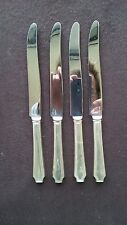 """1928 LEGACY  PATTERN 1847 ROGERS BROS SILVER PLATE (4) 9 1/4"""" DINNER KNIVES"""