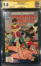 BRIAN BOLLAND SIGNED CGC 9.4 SS WONDER WOMAN #79 COMIC NOT CBCS BATMAN SUPERMAN