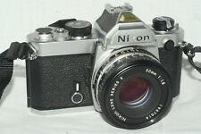 Nikon FM camera Series E 50 mm 1:1.8 lens batteries student photography class