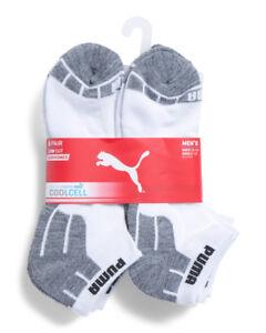 NWT 6-Pair Puma Men's Cushioned Low Cut Socks Cool Cell SZ L 6-12