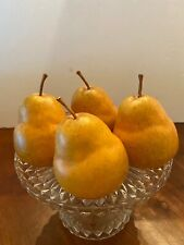 Pottery Barn Decorative Pears Realistic Looking Set Of 4