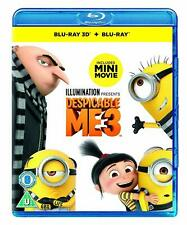 DESPICABLE ME 3 - 3D BLU RAY + BLU RAY NEW SEALED - UK RELEASE