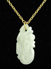 Pendant Necklace - China 1980s - Vintage Carved Jade