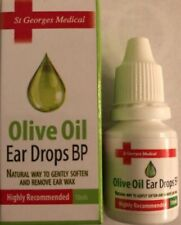OLIVE OIL EAR DROPS 10ml for earwax removal FREE POST UK PRODUCT