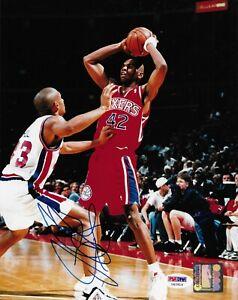 Jerry Stackhouse Signed Photo 8x10 PSA/DNA COA Autographed Philadelphia 76ers