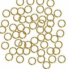 Open Jump Rings 24 Grams approx 200pc Gold plated Brass 7mm Round 18 Gauge