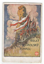 Vsesokolsky Praze Prague Ceskoslovenské Slet VII Czechoslovkia Czech postcard
