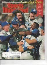 Sports Illustrated November 2 1992 Toronto Blue Jays