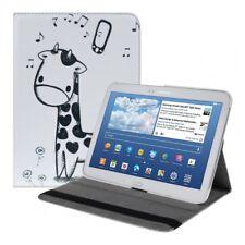 360° Kunstledertasche mit Giraffe Comic Design für Samsung Galaxy Tab 3 10.1
