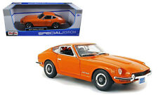 1971 Datsun 240Z 240 Z Nissan Fairlady Orange 1/18 Diecast Model Maisto 31170