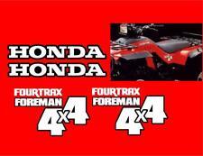1987 Honda Fourtrax Foreman 4x4 4pc Decal/Graphics Set Fourtrax HRC