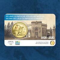 Belgien - 100 Jahre Olympia Antwerpen Coloriert - 2,5 Euro 2020 Coincard