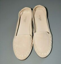 Footglove Cream Suede Leather Moccasins  Very Soft Wider Fit Size 6.5 BNWOT