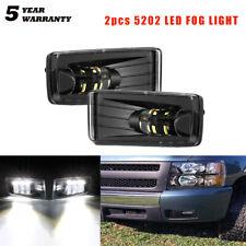 LED Fog Light Bumper Fit Chevy Silverado 1500 2500 3500/Avalanche/Suburban 07-14