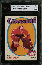 1971-72~O-PEE-CHEE~#45~KEN DRYDEN~HOF ROOKIE CARD~MONTREAL CANADIENS~KSA 8 NM-MT