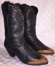 Vintage Womens Size 10 M DINGO Cowgirl Cowboy Western Wing Tip Round Toe Boots