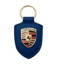 Genuine Porsche Crest Keyring - BLUE  MADE IN GERMANY