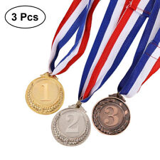 3PCS Metal Award Medals Gold Silver Bronze Prize Tool Medal for Academics Sports