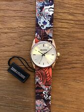 ZVF202 Rose Gold Multicolor Cloth Bracelet Watch by Zadig & Voltaire UNISSEX