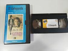 EL GATOPARDO CINTA TAPE VHS LUCHINO VISCONTI BURT LANCASTER ALAIN DELON LEOPARD