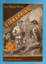 ►FERENCZI - MON ROMAN POLICIER N°378 - KIDNAPPING - TONY GUILDE - 1955