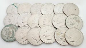 Lot of 18 Ike Eisenhower Dollars Coins