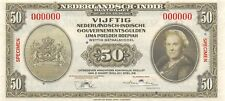 Netherlands Indies  50  gulden / Rupiah  2.3.1943  P 116s  Uncirculated Banknote