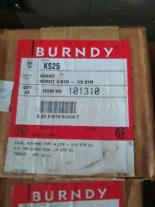 Burndy KS25, SERVIT SPLIT BOLT CONNECTORS, 4 AWG, 1/0, - LOT OF 50