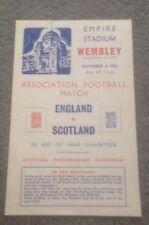ENGLAND V SCOTLAND - WARTIME INTERNATIONAL - 4/10/1941 - COPY