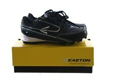 Boys Easton Turbo Black Silver Baseball Sports Cleats Shoes 11 2 5 6 Youth NEW
