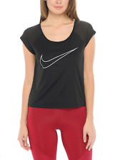 New Nike Women T-shirt  DRY TOP RUN FAST/short sleeve/drifit/top/run/gym/black
