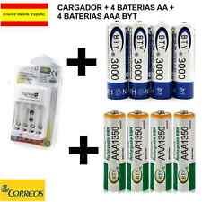 CARGADOR BATERIAS DIGIVOLT TIPO AA-AAA-9V + 4 PILAS AA RECARGABLES + 4 PILAS AAA