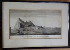 1764 Print View of Gibraltar Vue de Gibraltar, prise du cote de A'Espagne