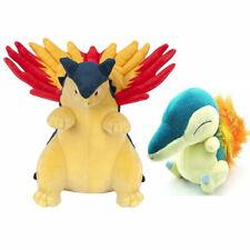 Set of 2 Pokemon Cyndaquil and Typhlosion Figure Plush Soft Dolls Stuffed Toys
