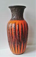 SCHEURICH Bodenvase orange braun Fat Lava 60er 70er WGP Form 239-41