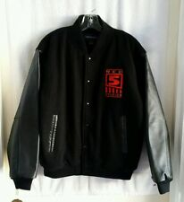 World of Warcraft/Firefall Red 5 Studios Black Leather/Wool blend Jacket Small